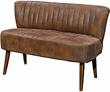 Esszimmerbank Mycroft Braun 145x70 cm Vintage Optik Beine dunkel Sitzbank