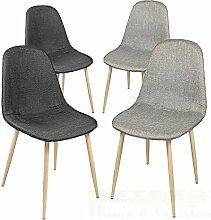 Esszimmerstühle 2/4/6/8 St. Essstuhl Esszimmerstuhl Lehnstuhl Stuhlgruppe Stuhl (8 Stück, Grau / Schwarz)