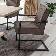 Esszimmerstühle in Schlammfarben und Schwarz