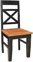 Esszimmerstühle in Schwarz Holz Shabby Chic (2er