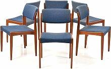 Esszimmerstühle mit Gestell aus Teak von Henry W.