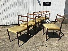 Esszimmerstühle von H.W. Klein für Bramin, 6er