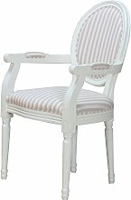 Esszimmerstuhl BAROCK Küchenstuhl Stuhl Sitzmöbel Massivholz weiß