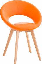Esszimmerstuhl Timm Kunstleder-orange
