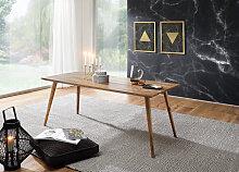Esszimmertisch 120 x 60 x 76 cm Sheesham rustikal