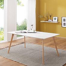 Esszimmertisch 160 x 76 x 90 cm MDF Holz Esstisch