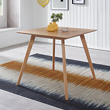 Esszimmertisch 80 x 76 x 80 cm MDF Holz Eiche