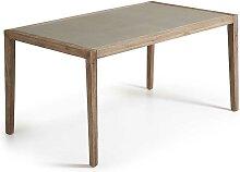 Esszimmertisch aus Akazie Massivholz Leichtbeton