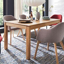 Esszimmertisch aus Eiche massiv geölt ausziehbar