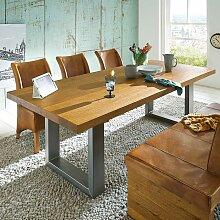 Esszimmertisch aus Eiche Massivholz geölt modern