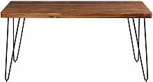 Esszimmertisch aus Sheesham Massivholz Metall