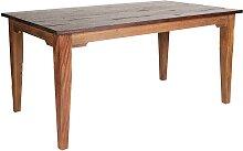 Esszimmertisch aus Teak Massivholz 90 cm tief