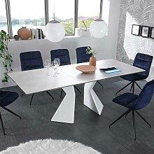 Esszimmertisch in Weiß ausziehbar modern