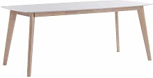Esszimmertisch in Weiß Holz Ansteckplatte