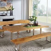 Esszimmertisch mit Baumkante Wildeiche massiv