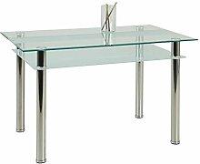 Esszimmertisch mit Glasplatte Ablage Pharao24