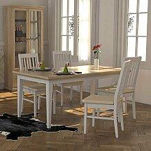 Esszimmertisch mit Mittelauszug Eiche Sägerau Weiß Breite 180 cm Ohne Verlängerbar um je Ohne Ohne Pharao24