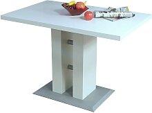 Esszimmertisch mit Säulenfuß Weiß