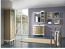 Estea Möbel–Badmöbel Möbel Massivholz Handarbeit lackiert mit Spiegel–Wie Foto