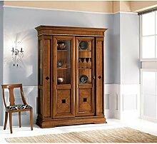 Estea Möbel–Schaufenster aus Holz massiv Schiebetüren verschiedenen Farben–157A