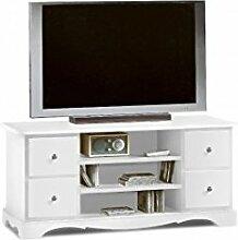 EsteaMobili Fernsehtisch aus Holz Farbe Weiß ma