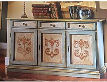 EsteaMobili Sideboard Holz verziert antik wie