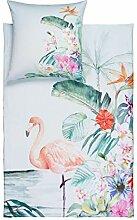 ESTELLA Bettwäsche Flamingo | Lagune