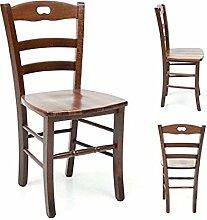 Estense–Stuhl Holz Sitz massiv