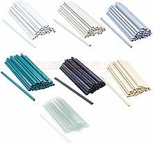 Estexo 30 Stück Befestigungsclips für PVC Sichtschutzstreifen Clip Sichtschutz 7 Farben (Grün)