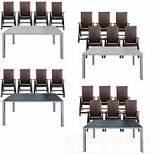 ESTEXO Gartentisch-Set Alu WPC 150x90 4/6 Stühle
