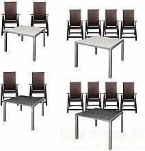 ESTEXO Gartentisch-Set Alu WPC 90x90 2/4 Stühle