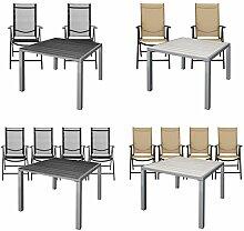 ESTEXO® Gartentisch-Set WPC 90x90 mit 2/4 Stühle