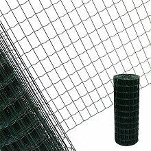 Estexo Gartenzaun 0,6x10 M Maschendraht Gitterzaun Maschung 7,5x5 cm Schweißgitter Zaun