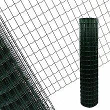 Estexo Gartenzaun 1,5x10 M Maschendraht Gitterzaun Maschung 7,5x5 cm Schweißgitter Zaun