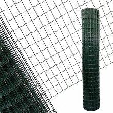 Estexo Gartenzaun 1,8x25 M Maschendraht Gitterzaun Maschung 7,5x5 cm Schweißgitter Zaun