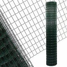 Estexo Gartenzaun 2,0x25 M Maschendraht Gitterzaun Maschung 7,5x5 cm Schweißgitter Zaun