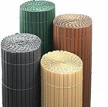 Estexo Home and Garden PVC Sichtschutzmatte Farbe & Größe Wählbar Sichtschutzzaun Sichtschutz für Zaun Balkon Windschutz (Höhe 180 cm/Länge 5 m, Bambus)