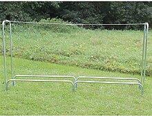 Estexo Home & Garden Design Brennholz-Regal Kaminholz-Regal Holz-Regal Holzkorb Holsständer Metall (LG-03/3)
