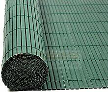 Estexo Home&Garden PVC Sichtschutzmatte Sichtschutzzaun Sichtschutz Für Zaun Balkon Windschutz Farbe:Grün; Höhe:200 cm; Länge:4 Meter;