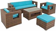 ESTEXO Poly-Rattan Lounge Garten-Möbel Set