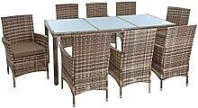 ESTEXO Polyrattan Sitzgruppe Gartenmöbel Set 8