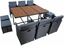 Estexo - Polyrattan Sitzgruppe Gartenmöbel Set