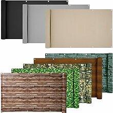 ESTEXO® PVC-Balkonsichtschutz, Balkonbespannung, Balkonverkleidung, 6 Meter (0,75 x 6,0 Meter, Buchs-Optik)