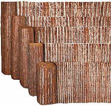 Estexo® Sichtschutzmatte 4m Rinde Sichtschutz Baumrindenmatte Rindenzaun Zaun (Höhe: 1,00 Meter)
