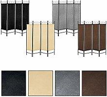 Estexo® vierteiliger Paravent, Raumteiler, Trennwand, spanische Wand, Sichtschutz, Raumtrenner (Beige)