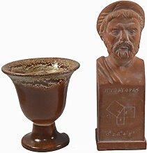 Estia Creations Pythagoras Skulptur Keramik plus