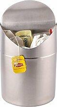 Estilo Mini zinntheken Trash Can, Edelstahl