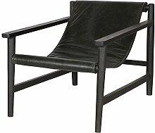 ESTO GmbH Lounge Sessel Sling Leder schwarz