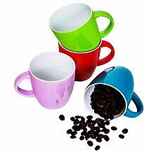 esto24® 4 Stoßfeste Kaffeebecher a 250 ml aus
