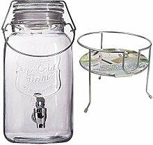 esto24 Hochwertiger Getränkespender aus Glas mit
